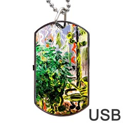 Plant In The Room  Dog Tag Usb Flash (one Side) by bestdesignintheworld