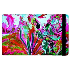 Desrt Blooming With Red Cactuses Apple Ipad 2 Flip Case by bestdesignintheworld
