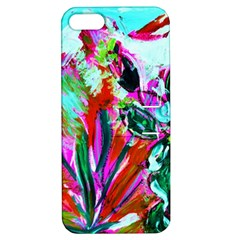 Desrt Blooming With Red Cactuses Apple Iphone 5 Hardshell Case With Stand by bestdesignintheworld