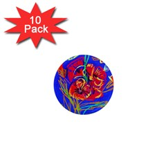 Red Poppies 1  Mini Magnet (10 Pack)  by bestdesignintheworld