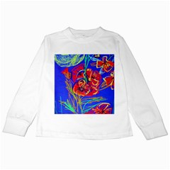 Red Poppies Kids Long Sleeve T-shirts by bestdesignintheworld