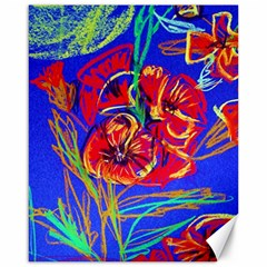 Red Poppies Canvas 16  X 20   by bestdesignintheworld