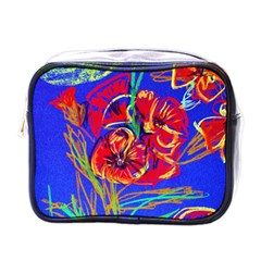 Red Poppies Mini Toiletries Bags by bestdesignintheworld