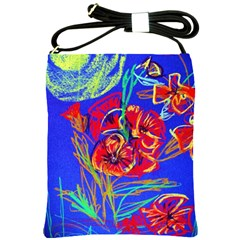 Red Poppies Shoulder Sling Bags by bestdesignintheworld