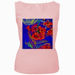 Dscf1376  Red Poppies Women s Pink Tank Top by bestdesignintheworld