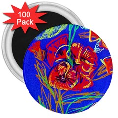 Dscf1376  Red Poppies 3  Magnets (100 Pack) by bestdesignintheworld