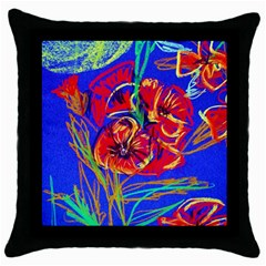 Dscf1376  Red Poppies Throw Pillow Case (black) by bestdesignintheworld