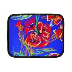 Dscf1376 -red Poppies Netbook Case (small)  by bestdesignintheworld