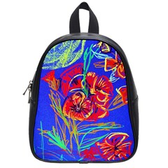 Dscf1376  Red Poppies School Bag (small) by bestdesignintheworld