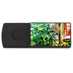 Dscf2188    Plant In The Room Rectangular Usb Flash Drive by bestdesignintheworld