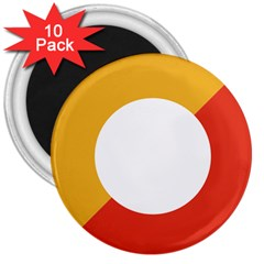 Bhutan Air Force Roundel 3  Magnets (10 Pack)  by abbeyz71