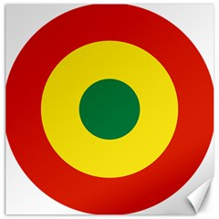 Roundel Of Bolivian Air Force Canvas 12  X 12