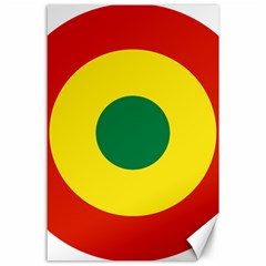 Roundel Of Bolivian Air Force Canvas 24  X 36  by abbeyz71