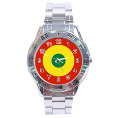 Roundel Of Bolivian Air Force Stainless Steel Analogue Watch by abbeyz71