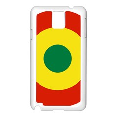 Roundel Of Bolivian Air Force Samsung Galaxy Note 3 N9005 Case (white) by abbeyz71