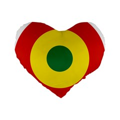 Roundel Of Bolivian Air Force Standard 16  Premium Flano Heart Shape Cushions by abbeyz71