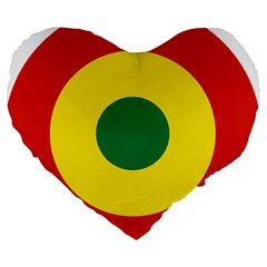 Roundel Of Bolivian Air Force Large 19  Premium Flano Heart Shape Cushions by abbeyz71