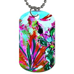 Dscf1472   Copy   Blooming Desert With Red Cactuses Dog Tag (one Side) by bestdesignintheworld