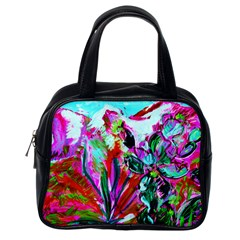 Dscf1472   Copy   Blooming Desert With Red Cactuses Classic Handbags (one Side)