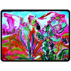 Dscf1472   Copy   Blooming Desert With Red Cactuses Double Sided Fleece Blanket (large)  by bestdesignintheworld