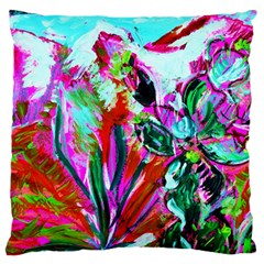 Dscf1472   Copy   Blooming Desert With Red Cactuses Standard Flano Cushion Case (two Sides) by bestdesignintheworld