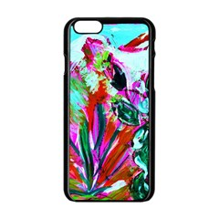 Dscf1472   Copy   Blooming Desert With Red Cactuses Apple Iphone 6/6s Black Enamel Case by bestdesignintheworld