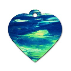 Dscf3194 Limits In The Sky Dog Tag Heart (one Side) by bestdesignintheworld