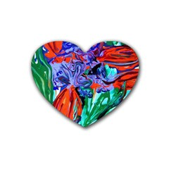 Dscf1366   Birds Of Paradise Rubber Coaster (heart)  by bestdesignintheworld