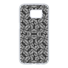 Modern Tribal Bold Pattern Samsung Galaxy S7 Edge White Seamless Case by dflcprints