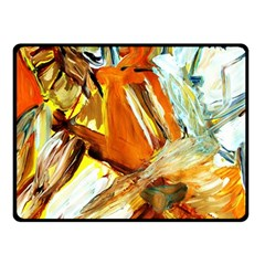 Dscf1503 - With Themis On A Shade Fleece Blanket (small) by bestdesignintheworld