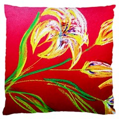 Dscf1393   Tender Bright Lillies Standard Flano Cushion Case (two Sides) by bestdesignintheworld