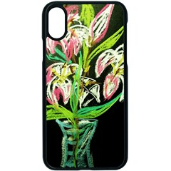 Dscf1389   Lillies In The Vase Apple Iphone X Seamless Case (black) by bestdesignintheworld