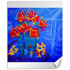 Dscf1433   Red Lillies Canvas 16  X 20   by bestdesignintheworld