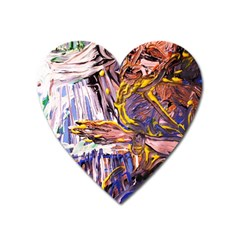 Dscf1627   Old Harpist Heart Magnet by bestdesignintheworld