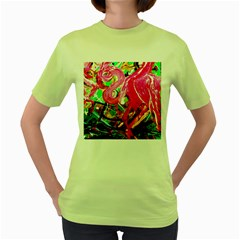 Dscf2035   Flamingo On A Chad Lake Women s Green T Shirt