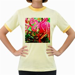 Dscf2035   Flamingo On A Chad Lake Women s Fitted Ringer T Shirts