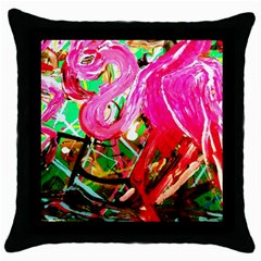 Dscf2035   Flamingo On A Chad Lake Throw Pillow Case (black)