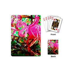Dscf2035   Flamingo On A Chad Lake Playing Cards (mini)