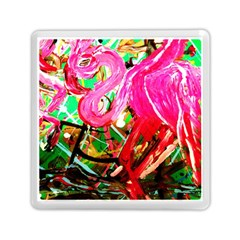 Dscf2035   Flamingo On A Chad Lake Memory Card Reader (square)  by bestdesignintheworld