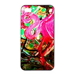 Dscf2035   Flamingo On A Chad Lake Apple Iphone 4/4s Seamless Case (black)