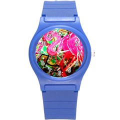 Dscf2035   Flamingo On A Chad Lake Round Plastic Sport Watch (s)
