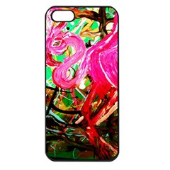 Dscf2035   Flamingo On A Chad Lake Apple Iphone 5 Seamless Case (black)