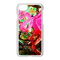 Dscf2035   Flamingo On A Chad Lake Apple Iphone 8 Seamless Case (white)
