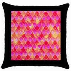 Squama Fhis Paint Flower Of Life Pattern Throw Pillow Case (black) by Cveti