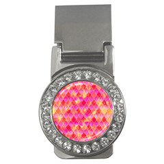 Squama Fhis Paint Flower Of Life Pattern Money Clips (cz)  by Cveti