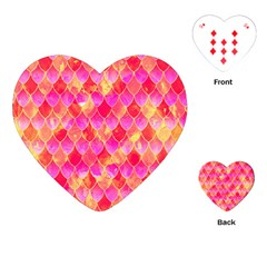 Squama Fhis Paint Flower Of Life Pattern Playing Cards (heart)  by Cveti