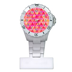 Squama Fhis Paint Flower Of Life Pattern Plastic Nurses Watch by Cveti
