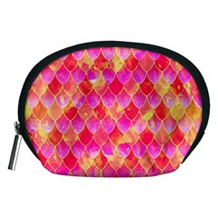 Squama Fhis Paint Flower Of Life Pattern Accessory Pouches (medium)  by Cveti