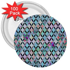 Rhomboids Flower Of Life Paint Pattern 3  Buttons (100 Pack)  by Cveti