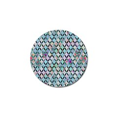 Rhomboids Flower Of Life Paint Pattern Golf Ball Marker (4 Pack) by Cveti